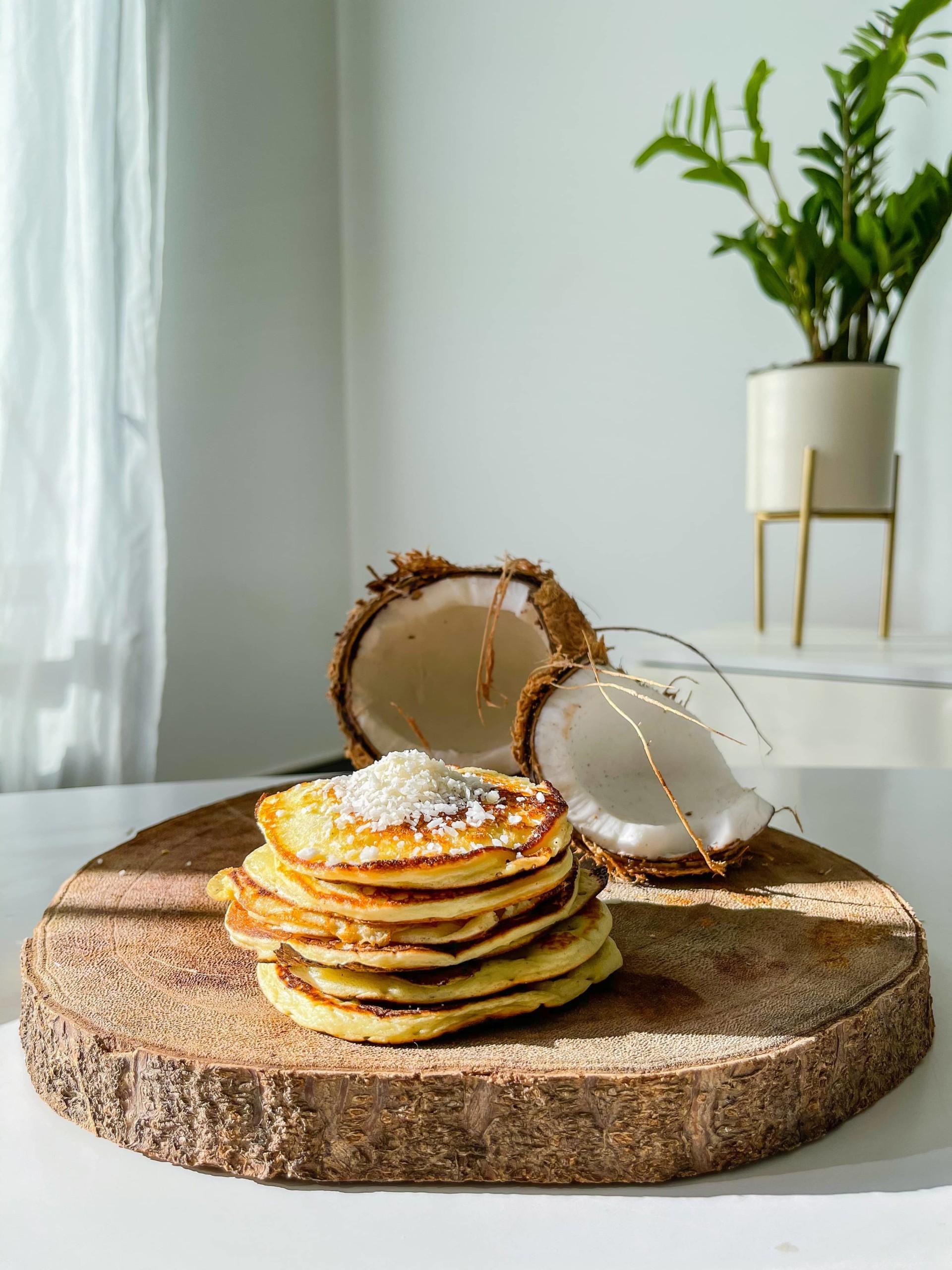 Pancakes au oikos coco